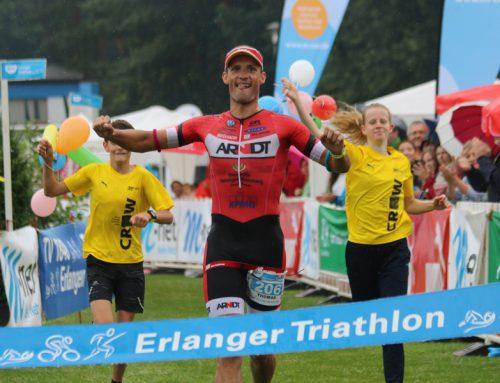 Der erste Sieg überhaupt: Premiere beim Erlanger Triathlon